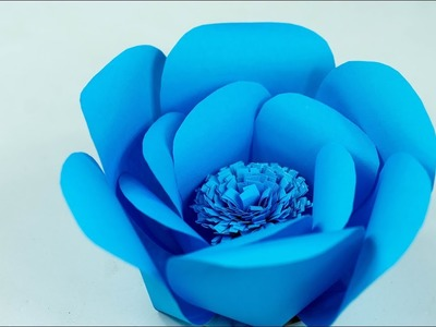 Paper Flower - How To Make Paper Flower - Easy Flower for beginners - DIY - Try At Home (Tutorial)