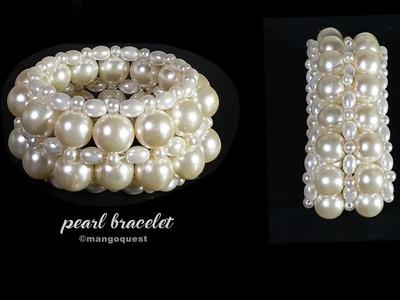 Pearl Bracelet Making Tutorial Fashion Jewelry DIY