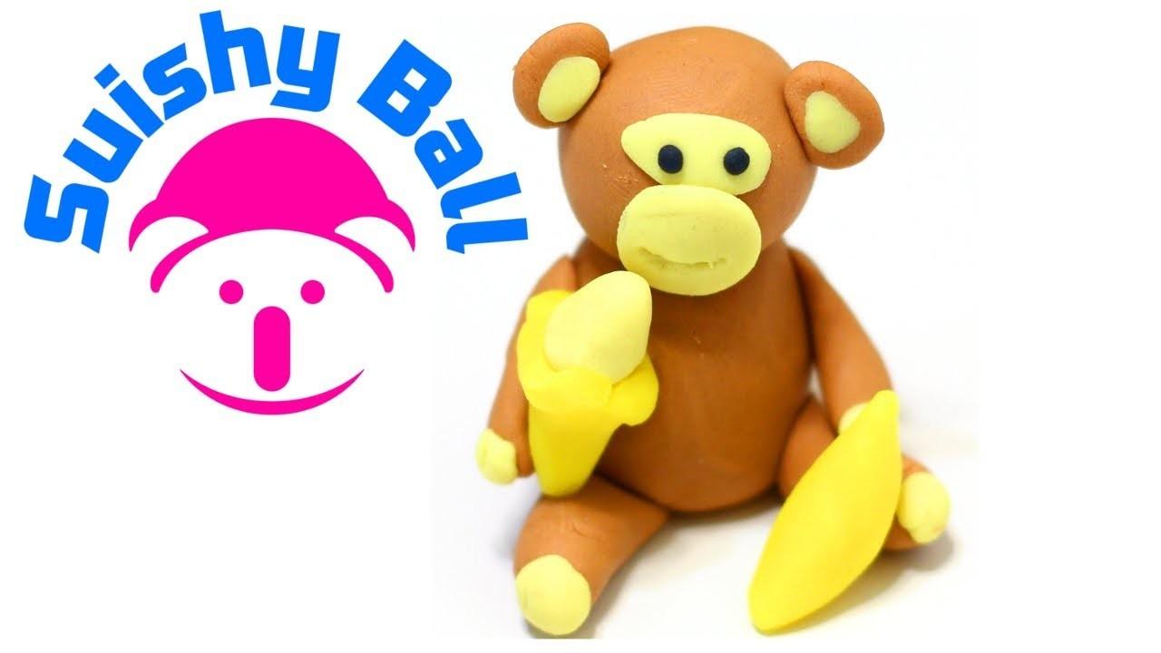 Play-Doh Monkey Eating Banana!