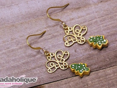 Quick & Easy DIY Jewelry: Filigree Christmas Tree Earrings