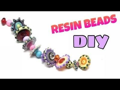 Resin beads- contas resina- Tutorial- DIY- UV resin