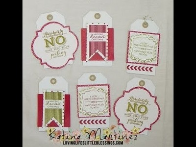 Stampin' Up Christmas Tags with Pop and Place Gift Tags Set
