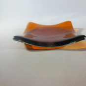 tea light holders in fused glass 9 designs red,blue,green,amber & multi Handmade