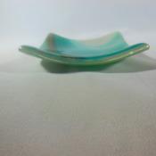 tea light holders in fused glass 9 designs red,blue,green,amber & multi Handmade