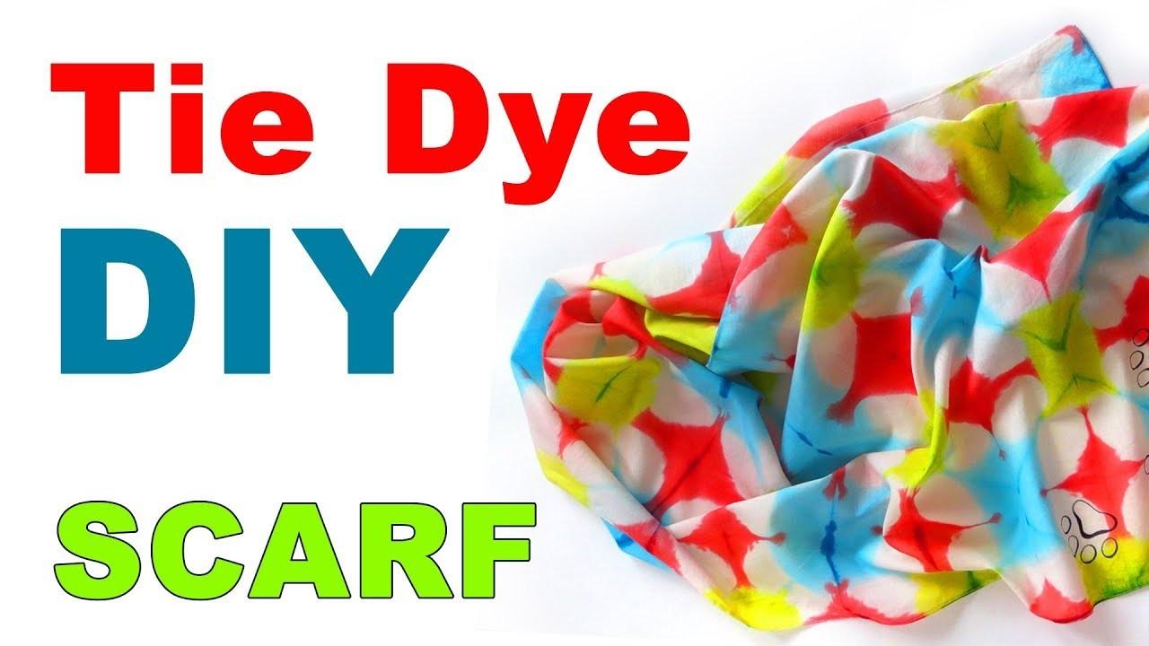 Tie Dye DIY how to tie dye techniques cotton scarf Shibori techniques tutorial How to dye fabric
