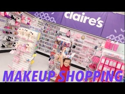 TOYS R US CLAIRE'S SECTION MAKE UP AND JEWLERY SHOPPING SPREE TAY HAUL