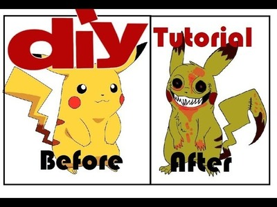 Transform Pikachu into Creepypasta's BRVR | DIY Tutorial