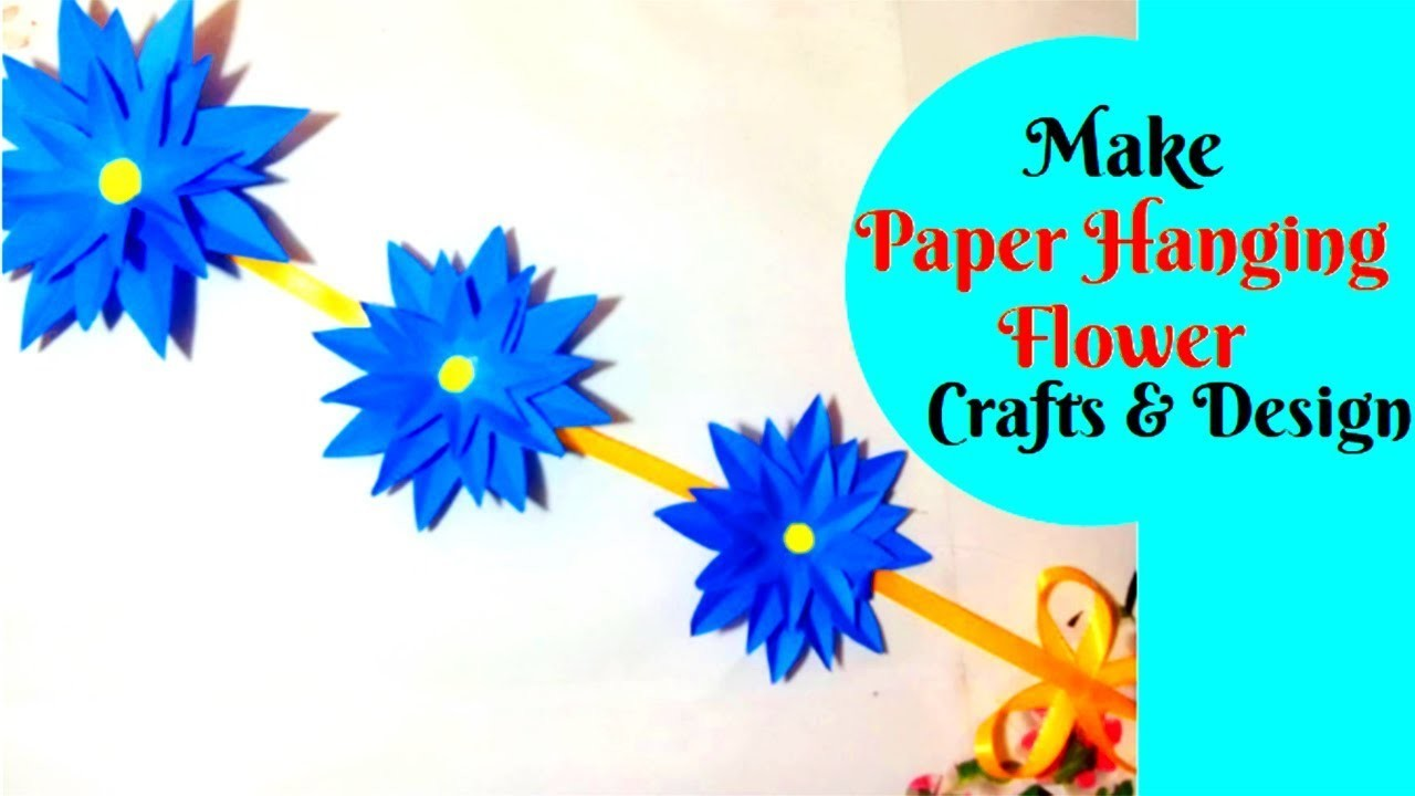 tutorial easy hanging flower making at home simple and