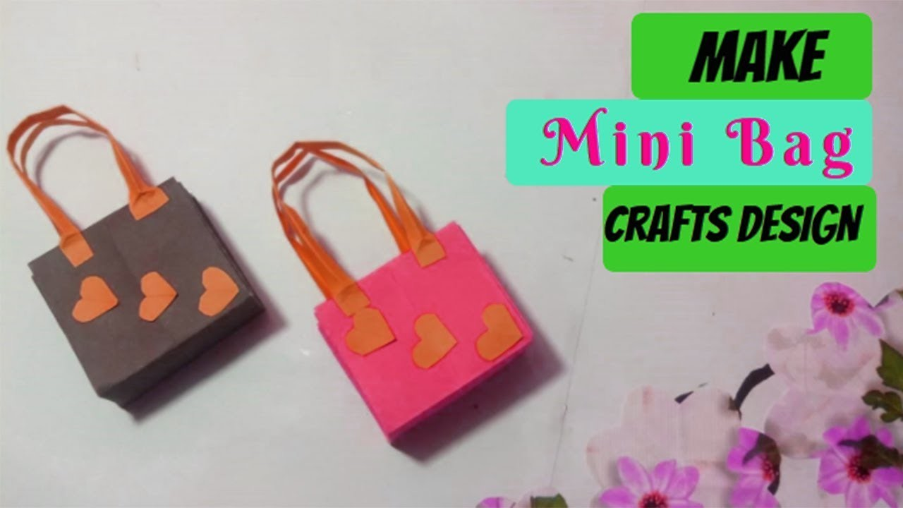 Tutorial mini paper bag making at home simple and easy diy fancy bag crafts design for How to make designer bags at home