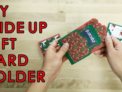 [Tutorial + Template] DIY Slide Up Gift Card Holder