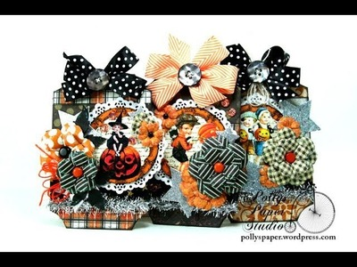 Vintage Halloween Tags Polly's Paper Studio Printable Process Tutorial  Decor DIY Craft Handmade Art
