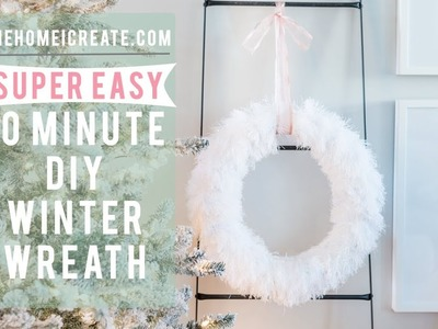 10  MINUTE EASY DIY Winter Wreath