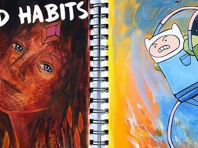 5 Bad Artist Habits to Avoid