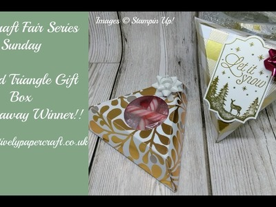 #6 Craft Fair Series Sunday Tapered Triangle Gift Box & Giveaway Winner!!