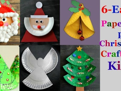 6-Easy paper plate Christmas craft Ideas for kids ( part 1)