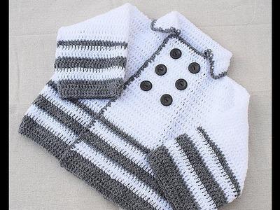 Abrigo de niño a crochet muy facil y rapido MAJOVEL CROCHET