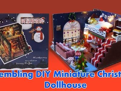 Assembling  DIY Miniature Christmas Dollhouse