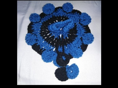 Blue and black new crochet designer dress for three no Laddu gopal Ji