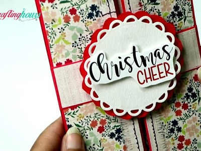 Christmas Card: DIY Handmade Gate-fold Greeting Card
