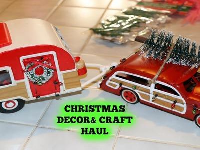 CHRISTMAS DECOR & CRAFT HAUL | DOLLAR TREE | TARGET |