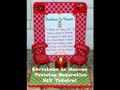 Christmas in Heaven DIY Craft with supplies from Dollar Tree, Walmart and Hobby Lobby