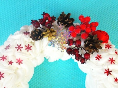 Christmas Recycled Decoration CHRISTMAS WREATH DIY crafts for Christmas ART and CRAFTS FOR KIDS