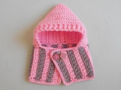 Crochet baby hooded cowl tutorial