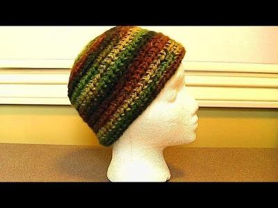 Crochet Easy Beanie, half double stitch