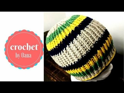 Crochet ribbed hat by Oana