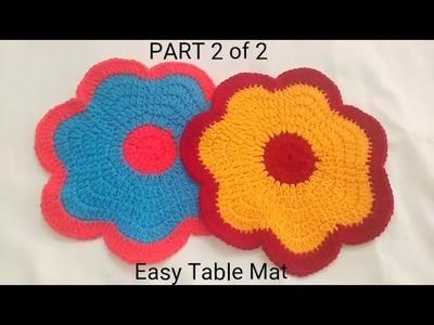 Crochet Thalposh  Hindi  Dishcloth  Easy Table Mat  Part 2  Dishcloth  थालपोश  क्रोशे हिंदी   Vinkam