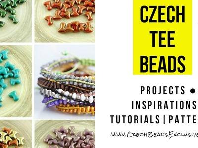 CZECH GLASS BEADS: Tee Bead Inspirations | Tutorials And Patterns