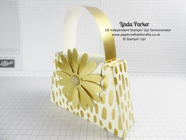 Dinky Little Handbag Gift Box - Bundle of Love DSP by Stampin' Up!