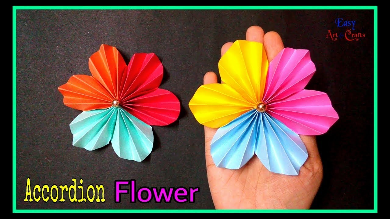 DIY Accordion Flower