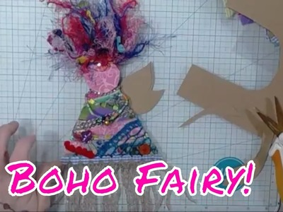DIY BoHo Christmas Holiday Fairy Ornament Tutorial Part 1