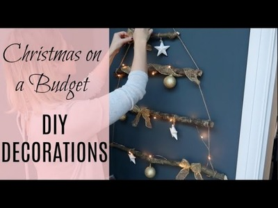 DIY CHRISTMAS DECORATIONS & CHRISTMAS ON A BUDGET | BRANCH CHRISTMAS TREE | KERRY WHELPDALE