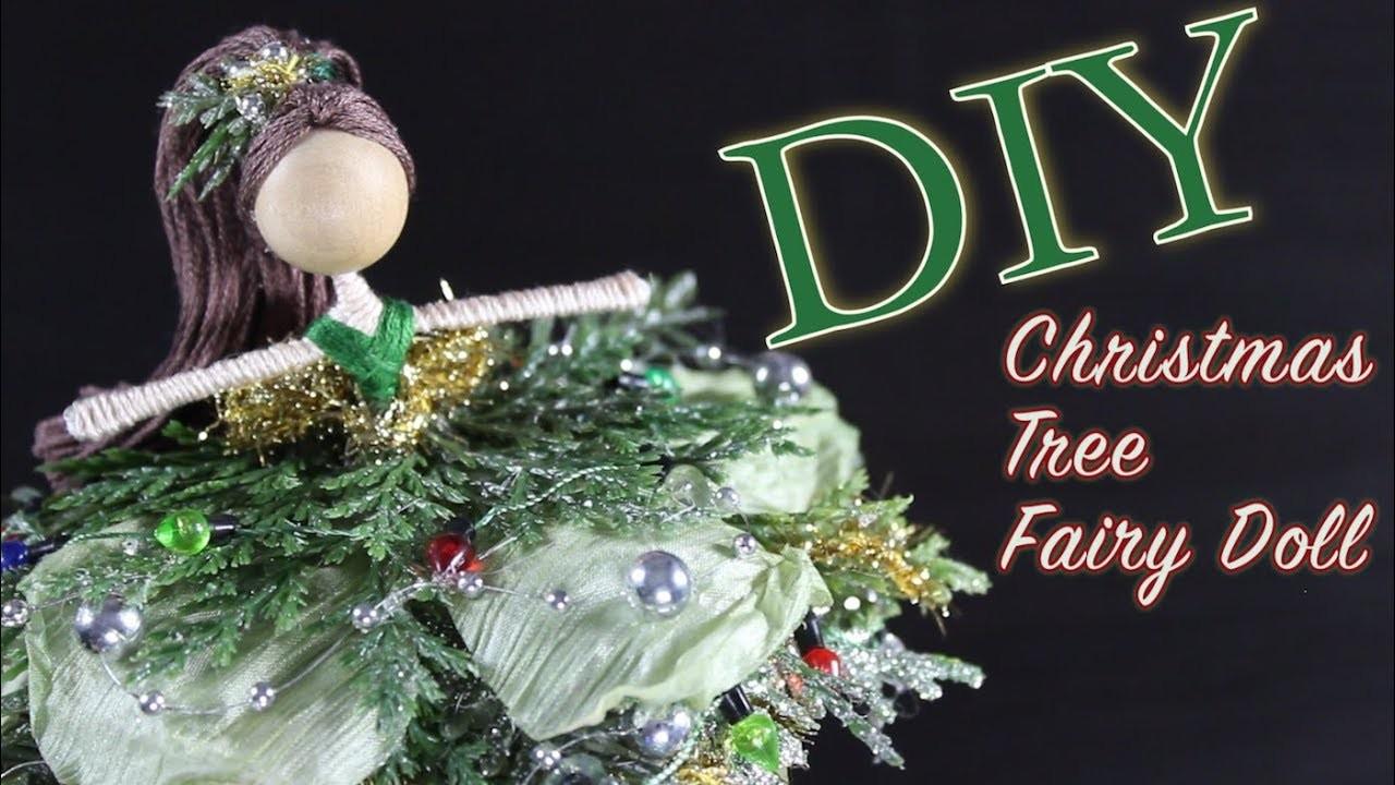 DIY Christmas Tree Fairy Doll | How To Make A Doll