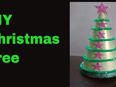 DIY Christmas.Xmas Tree from Bday cap- Kids Christmas.Xmas Fun Activity