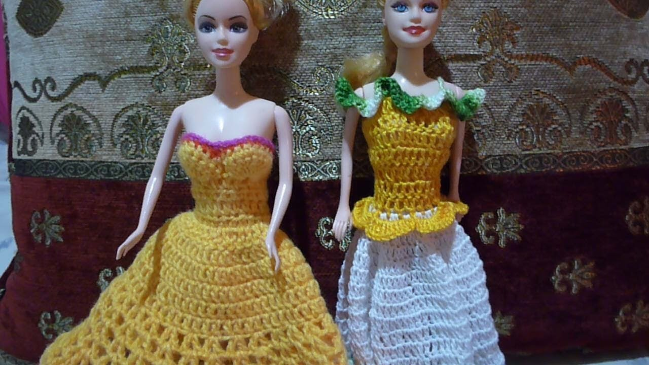 DIY CROCHET BARBIE DRESS