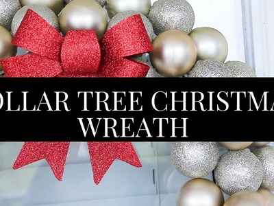 DIY Dollar Tree - Christmas Wreath Tutorial.Decorating Ideas (projects under $10) (Home Decor)