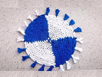 DIY How To Make Fabric Coaster | کاردستی، ساخت زیر دیگی از پارچه های کهنه