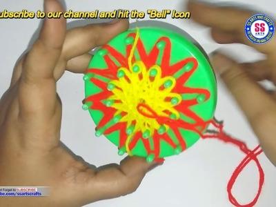 DIY ||How to make woollen flowers ||Crochet Flowers ||Yarn Flowers