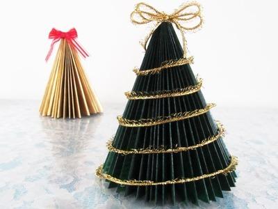 DIY - Newspaper Christmas tree (tabletop)