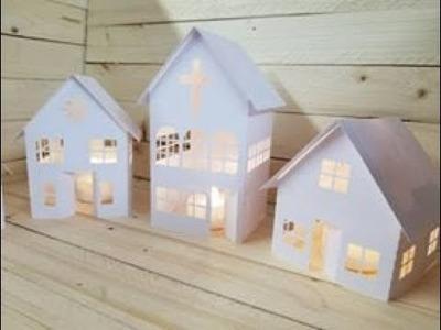 **DIY Paper Christmas Tree Village Tutorial** Silhouette Life Inspiration Box
