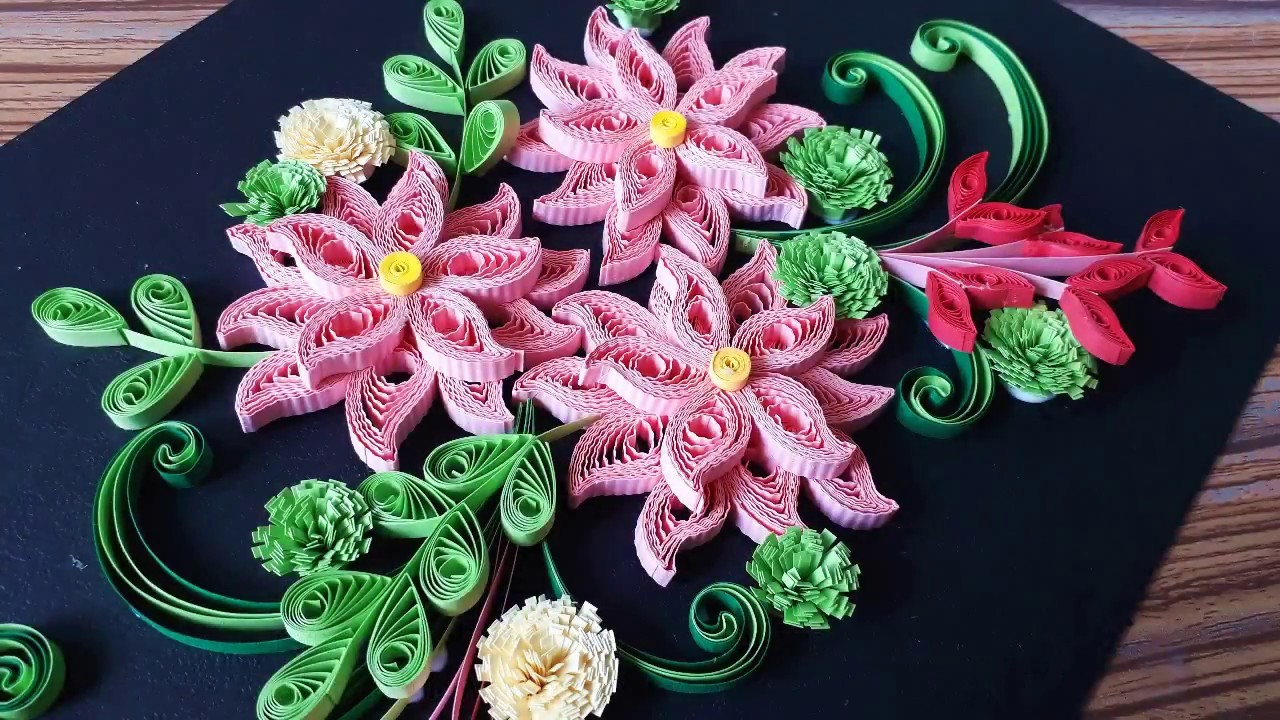 Paper quilling flowers for beginners flowers healthy diy paper quilling flower for beginner learning video 33 paper quilling flower card mightylinksfo