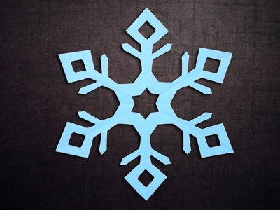 DIY Paper Snowflakes - How to Make 6 Pointed Snowflakes With Paper
