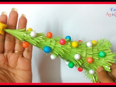DIY Paper Very Easy Christmas Tree - How to Make a Very Easy and Beautiful Tabletop X-mas Tree