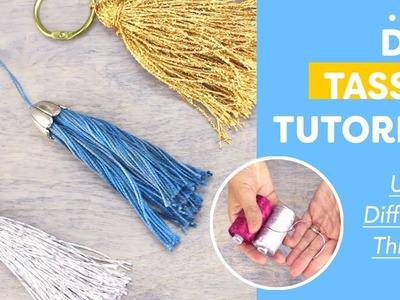 DIY Tassel Tutorial Using Different Threads