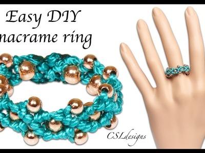 Easy DIY macrame ring