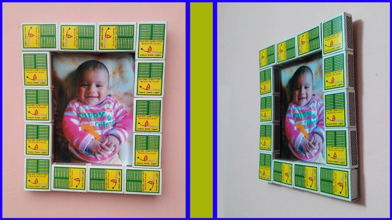 Easy Photo Frame with Match Box, Room Decor ideas using simple craft trick #2