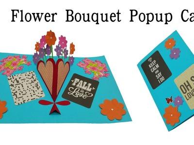 Flower Bouquet Popup Card - DIY Tutorial - 853